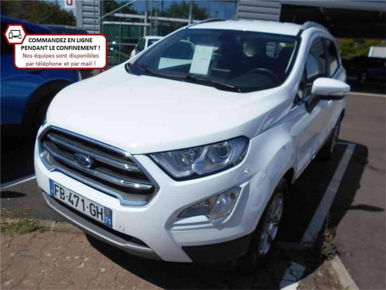 FORD EcoSport 1.0 EcoBoost 125 BVM6 - véhicule d'occasion - Groupe Guillet - Chalon Automobiles - 71100 - Chalon-sur-Saône - 1