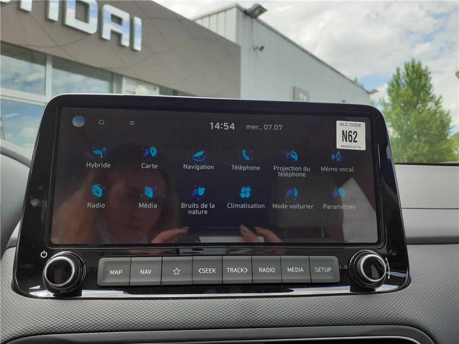 HYUNDAI Kona Hybrid 141 - véhicule d'occasion - Groupe Guillet - Hyundai - Zenith Motors – Montceau-les-Mines - 71300 - Montceau-les-Mines - 31