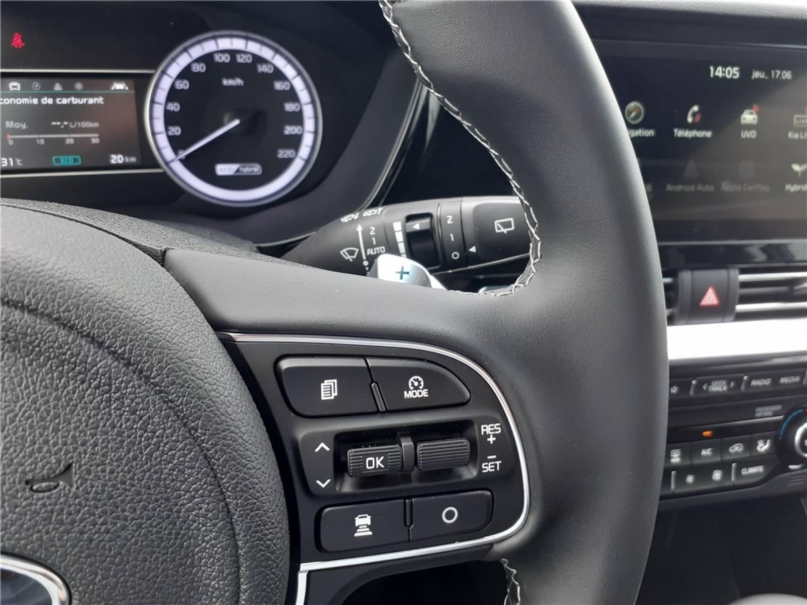KIA Niro Hybrid 1.6 GDi 105 ch ISG + Electrique 43.5 ch DCT6 - véhicule d'occasion - Groupe Guillet - Hall de l'automobile - Chalon sur Saône - 71380 - Saint-Marcel - 25